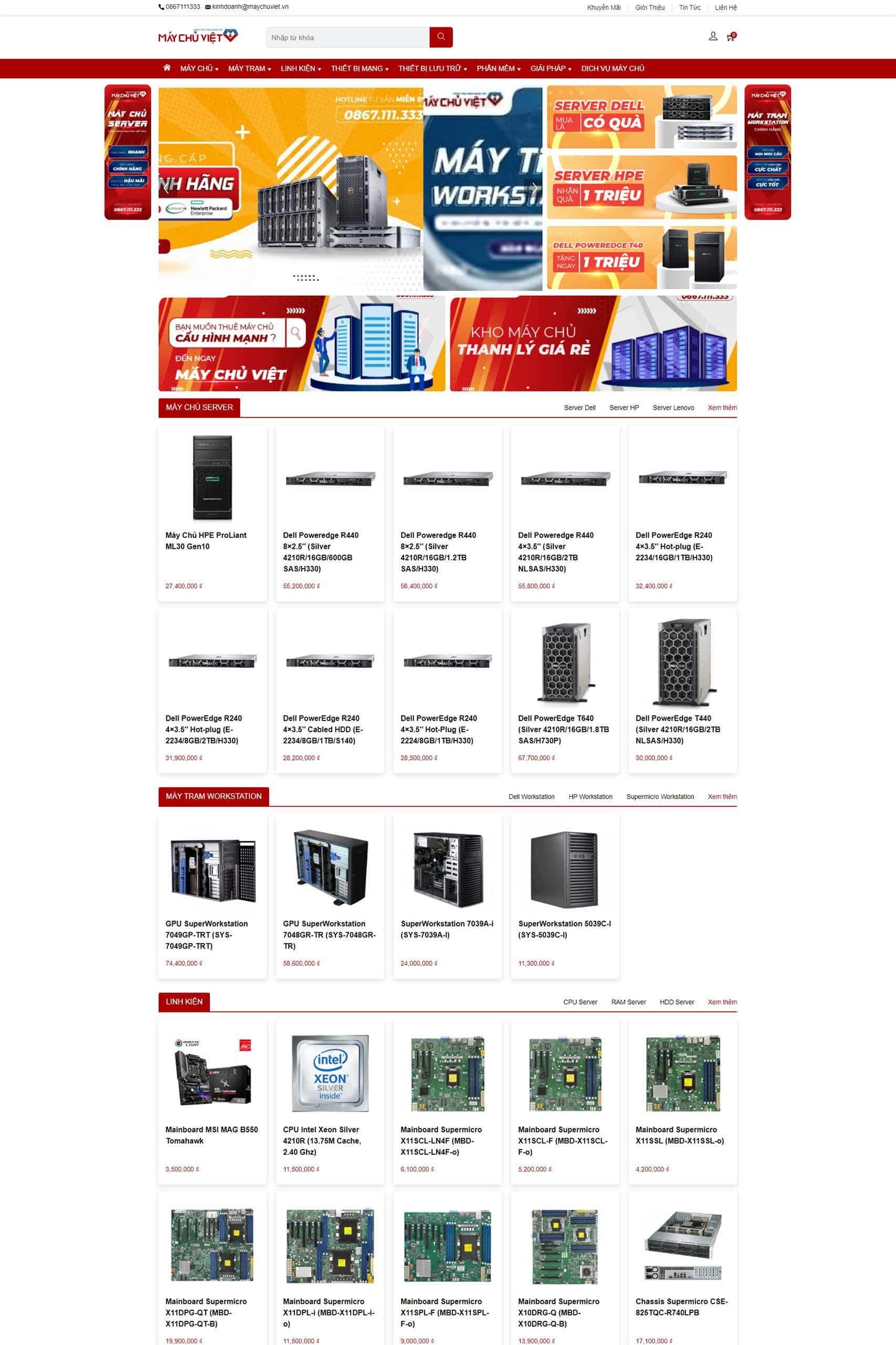 Website Máy chủ Việt
