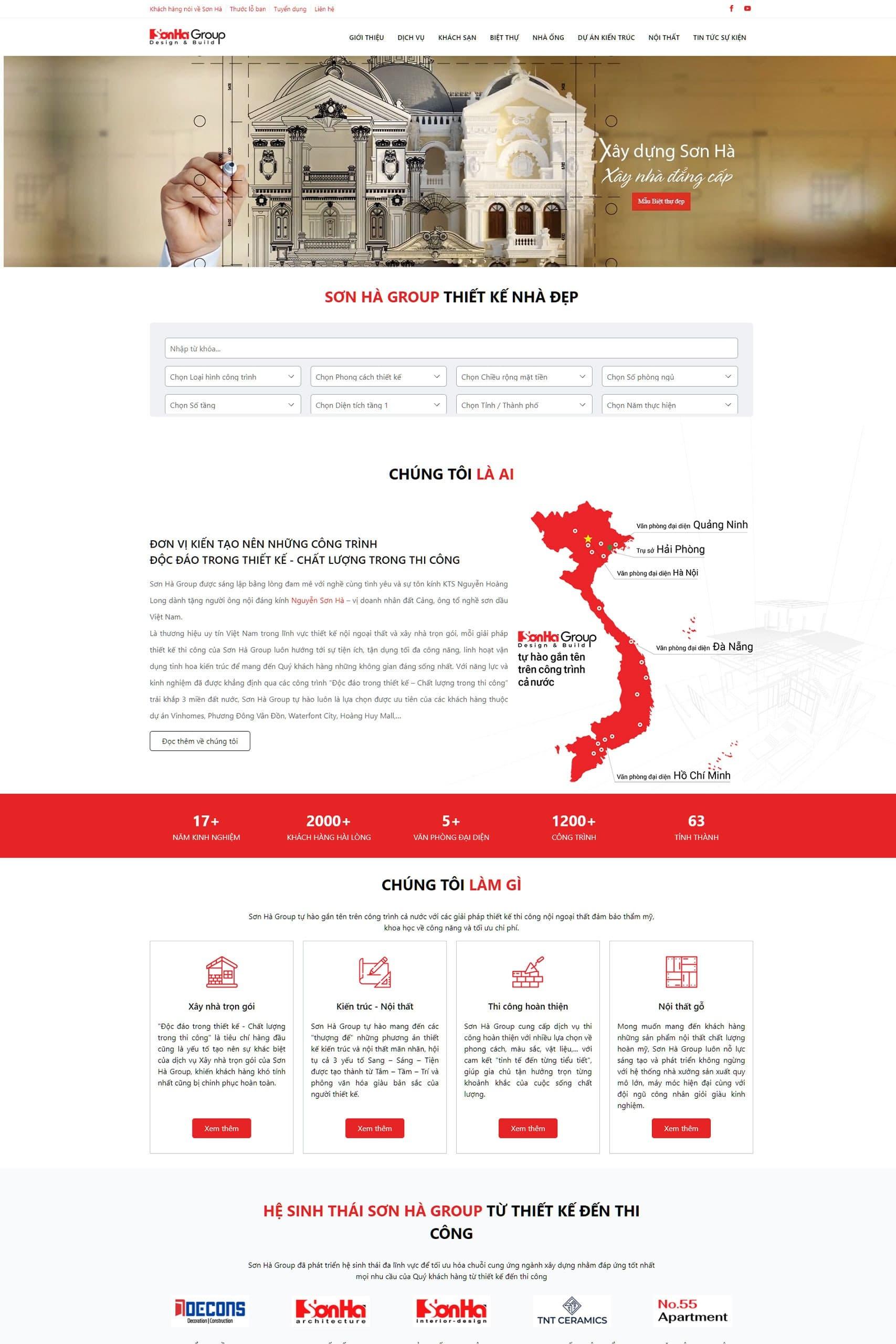 Website Sơn Hà Group